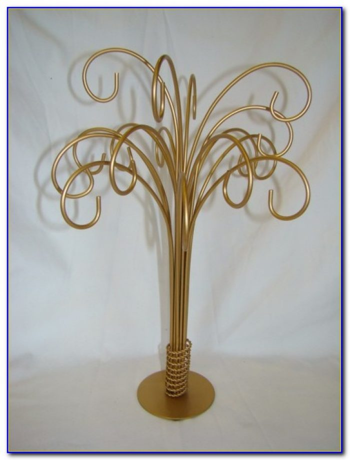 Silver Tabletop Ornament Tree