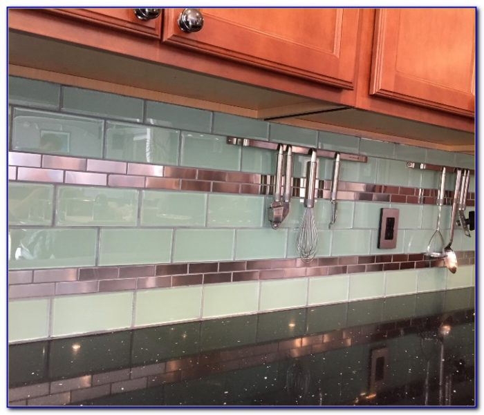 Stainless steel subway tile sheets tiles home design for Stainless steel tile backsplash installation