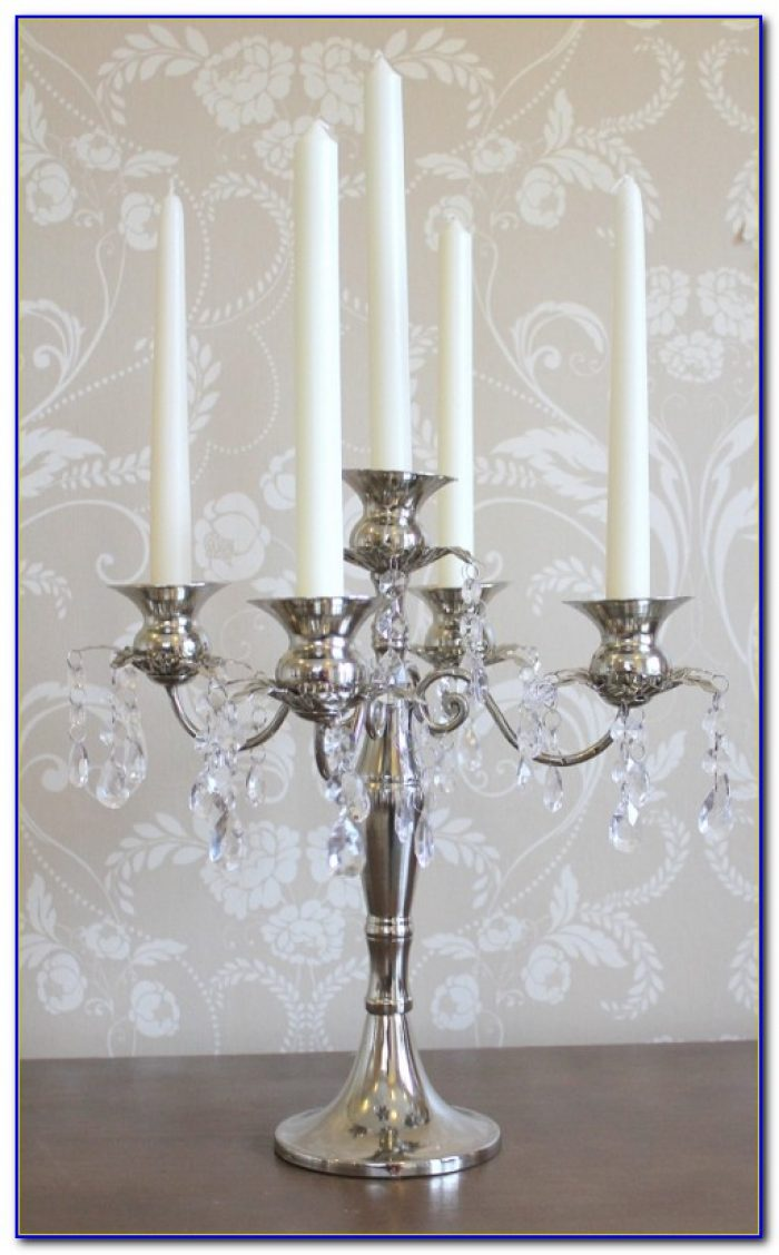 Tabletop Crystal Candle Chandelier Tabletop Home