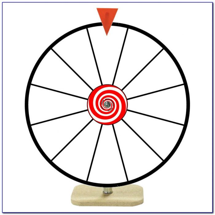 Table Top Color Dry Erase Spinning Prize Wheel