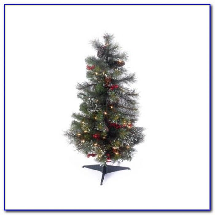 Tabletop Pre Lit Artificial Christmas Trees