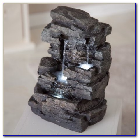 Tabletop Rock Fountains