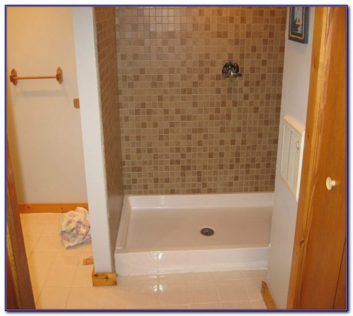 Tile Ready Shower Pan With Seat