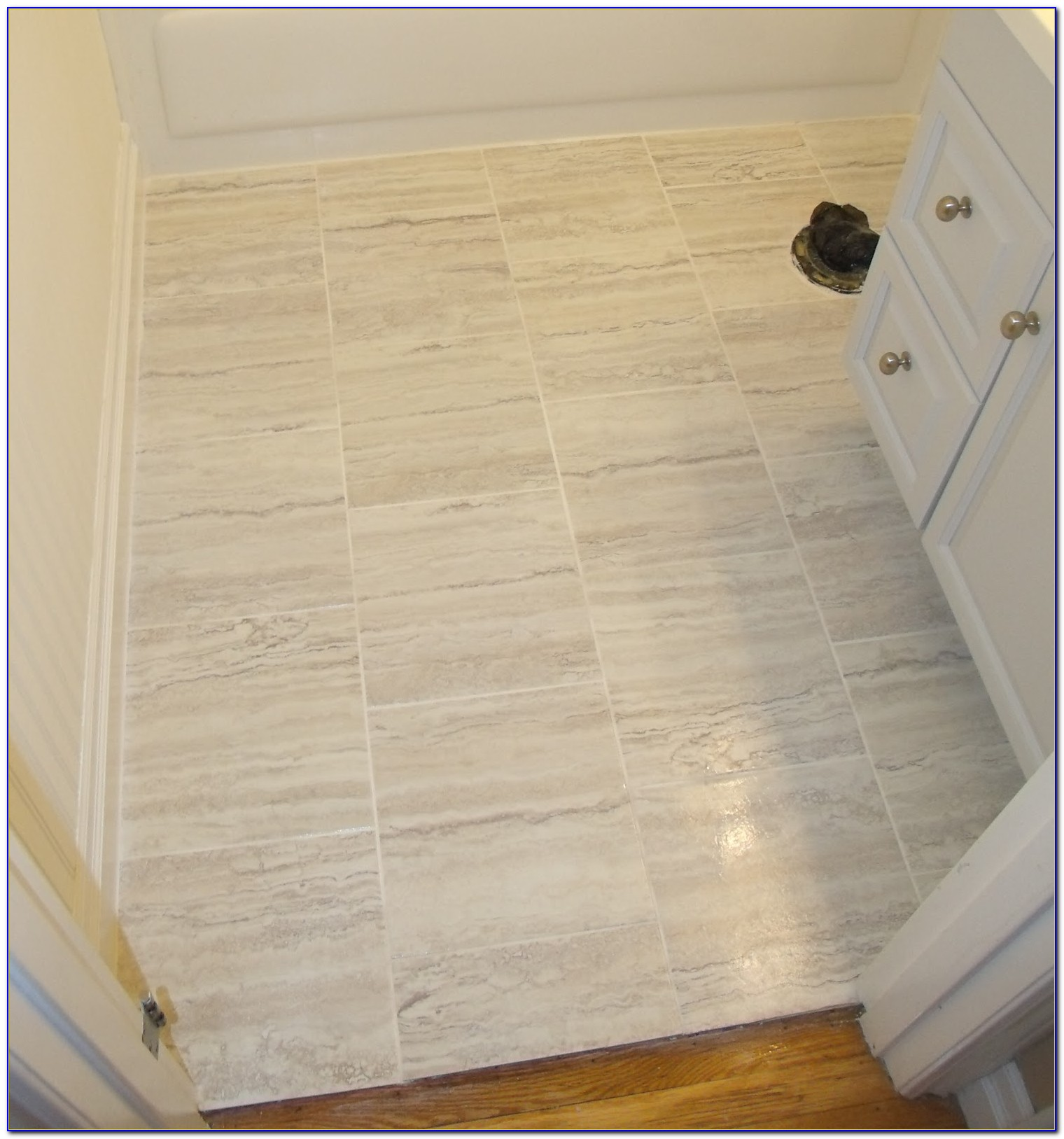 Vinyl Tile With Grout In Bathroom Tiles Home Design