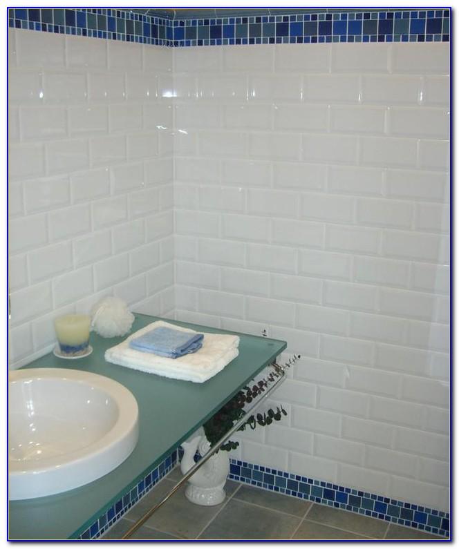 White Beveled Subway Tile 4x8