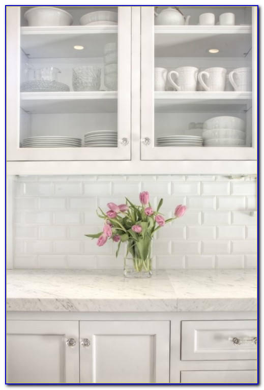 White Beveled Subway Tile Gray Grout