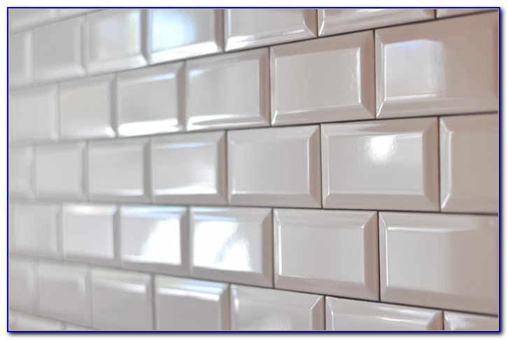 Beveled subway tile kitchen design ideas
