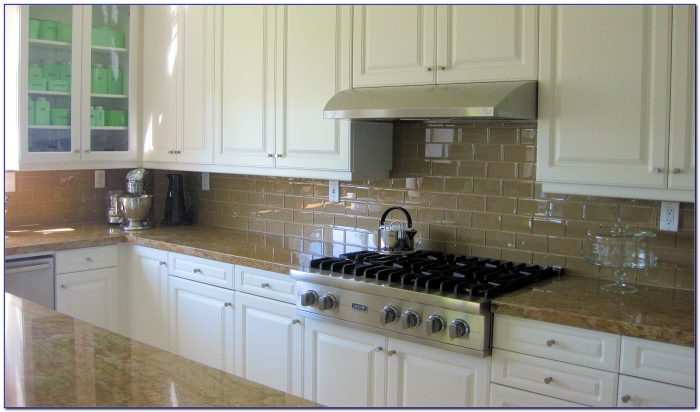 White Subway Tile Backsplash With White Cabinets
