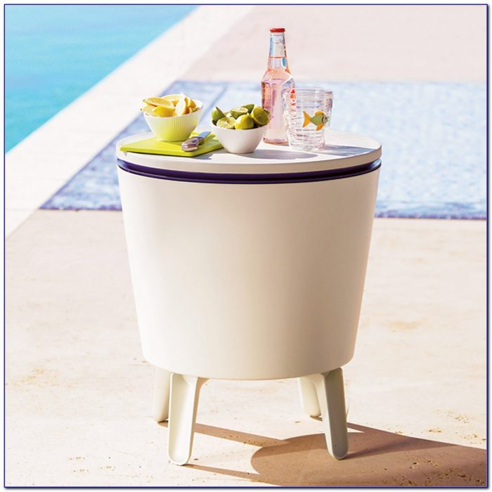White Tabletop Wine Cooler