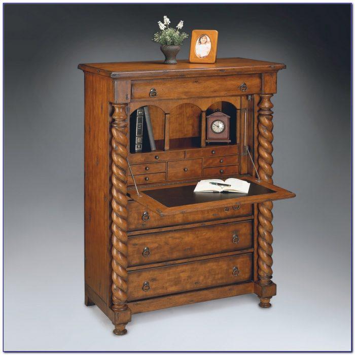 Antique Small Secretary Desk With Hutch