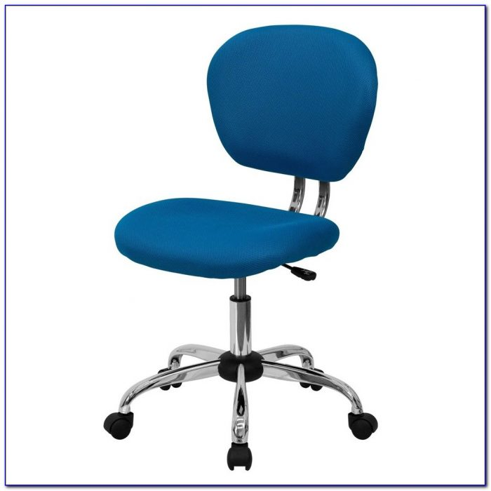 Armless Desk Chair With Wheels