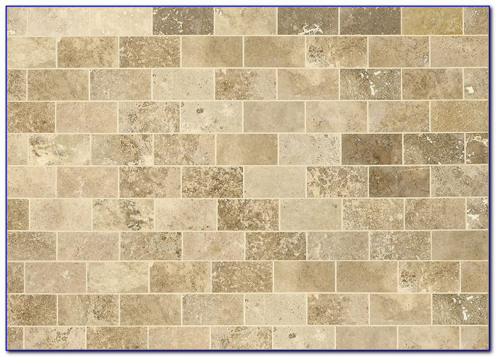 Beige Travertine Subway Backsplash Tile