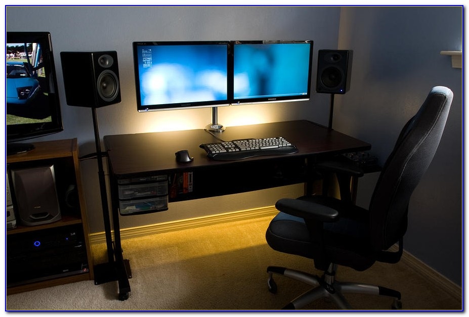Best computer desk for multiple monitors desk home for Best home office desk for multiple monitors
