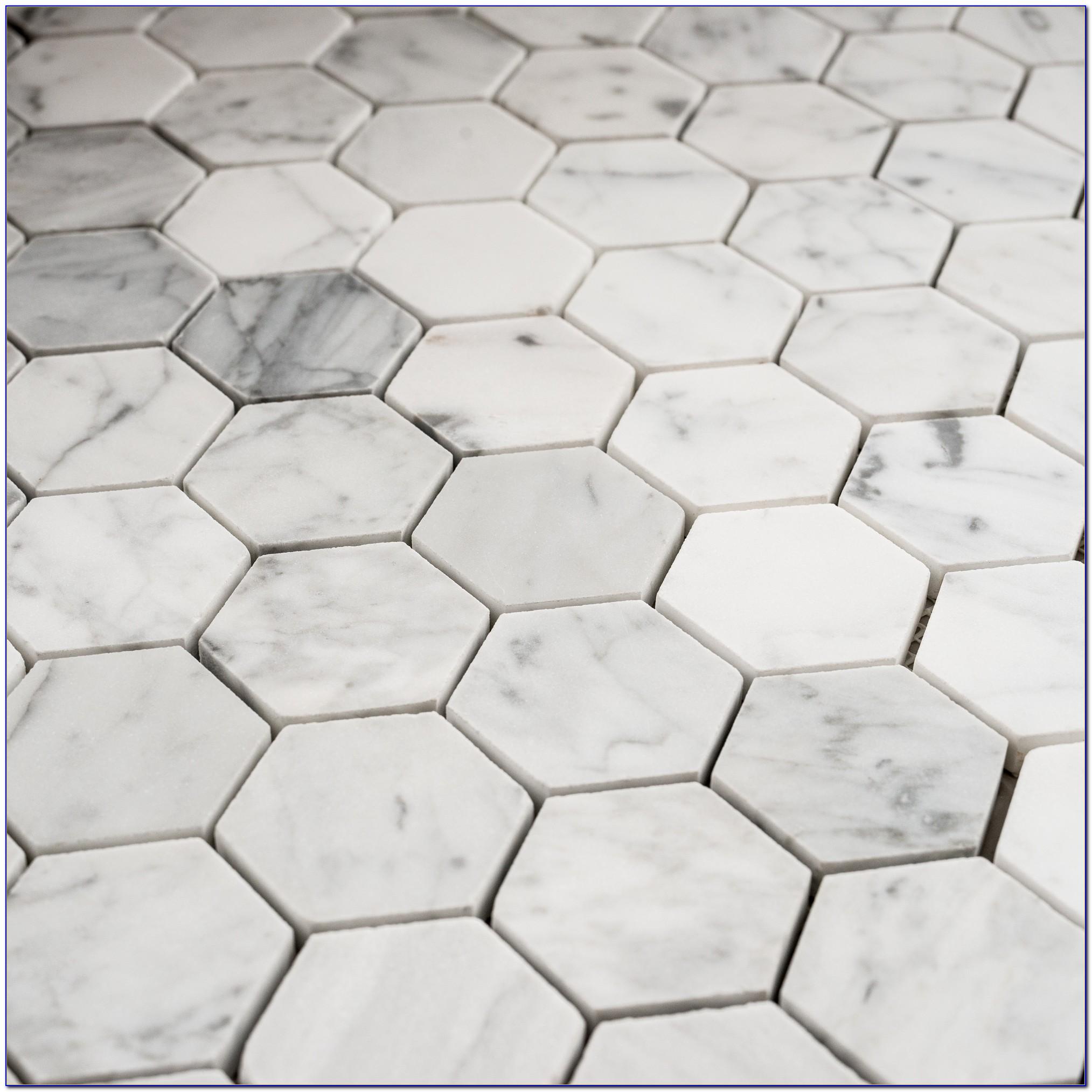 Bianco Carrara Marble Hexagon Tile