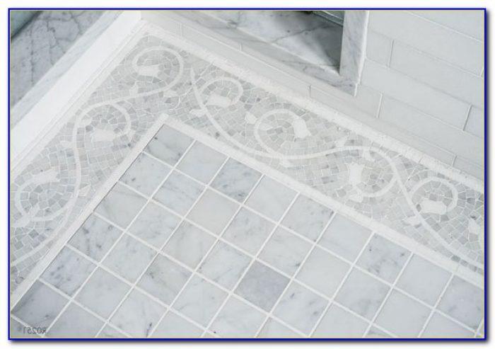 Bianco Carrara Marble Tile Basketweave