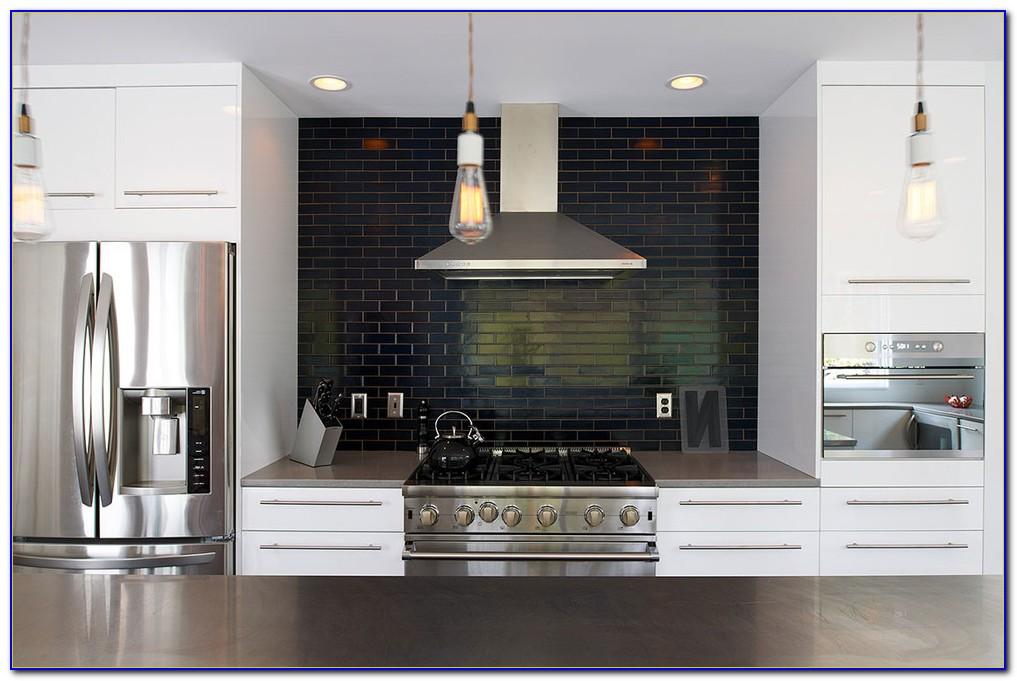 Black And Grey Glass Tile Backsplash Tiles Home Design