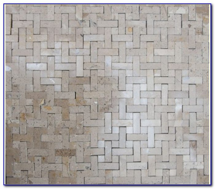Black And White Porcelain Basket Weave Tile