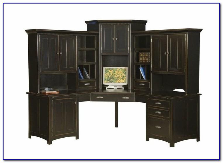 Black Corner Desk With Hutch Small Black Corner Desk