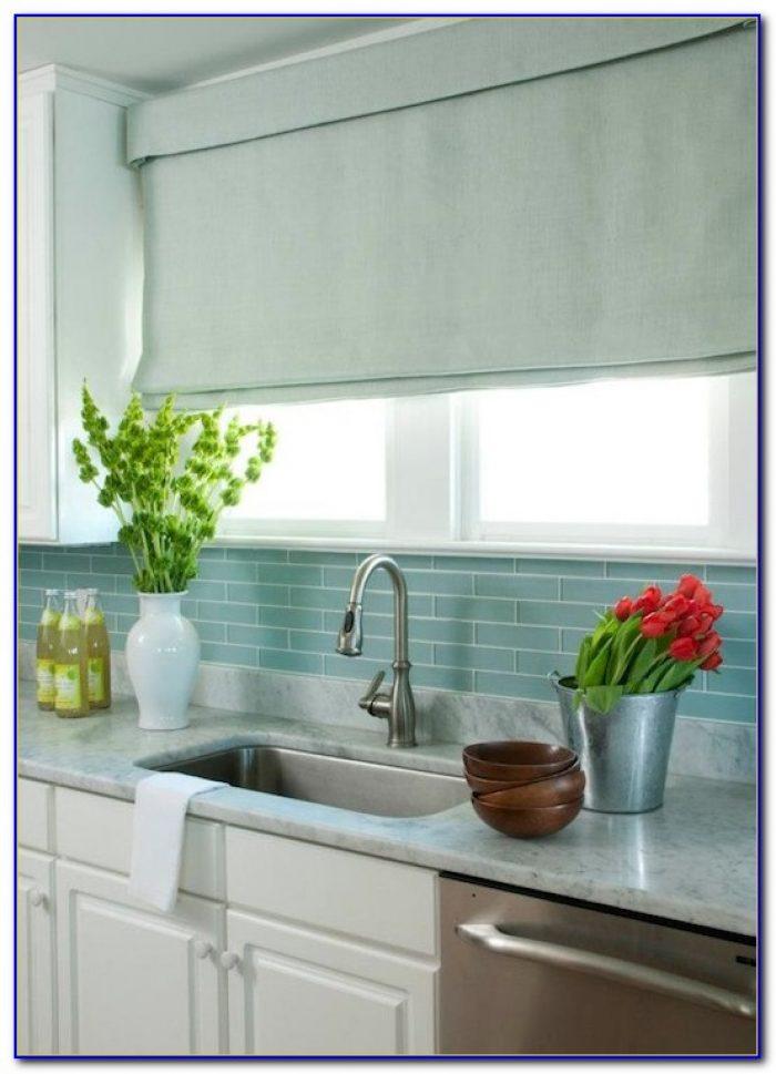 Blue Glass Tile Backsplash Ideas