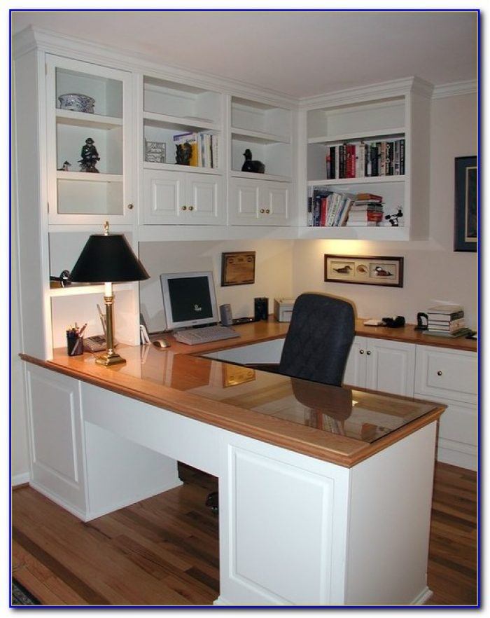 Built In Desk Cabinets In Kitchen