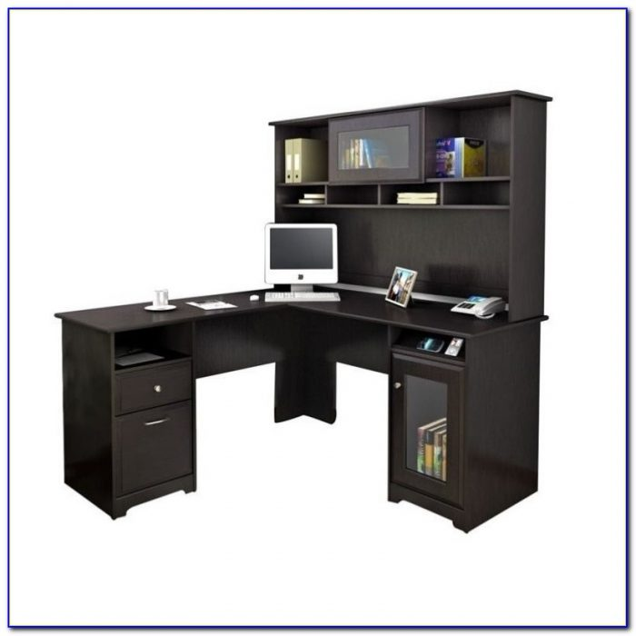 Bush Cabot L Shaped Desk With Optional Hutch