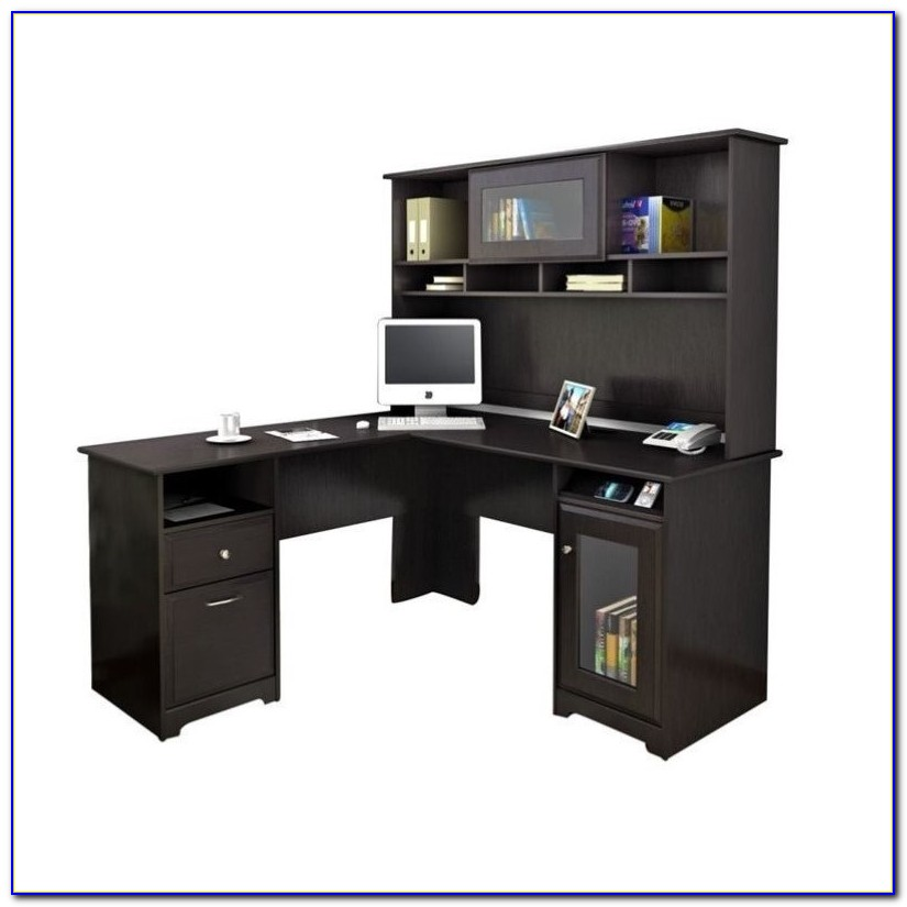 Bush Cabot L Shaped Desk With Optional Hutch Desk Home