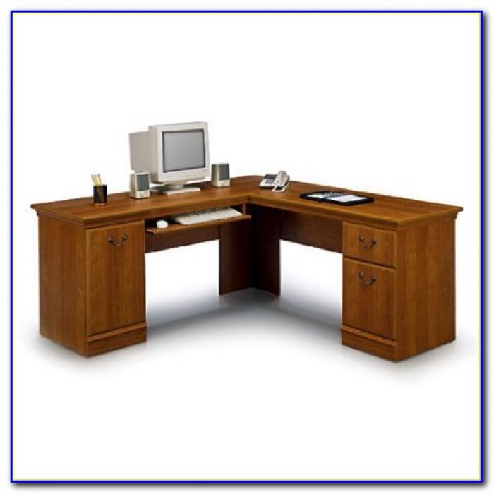 Bush Cor053 U Shaped Desk With Hutch Desk Home Design
