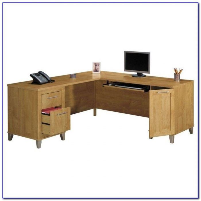 L Shaped Desk With Hutch By Bush Furniture Desk Home