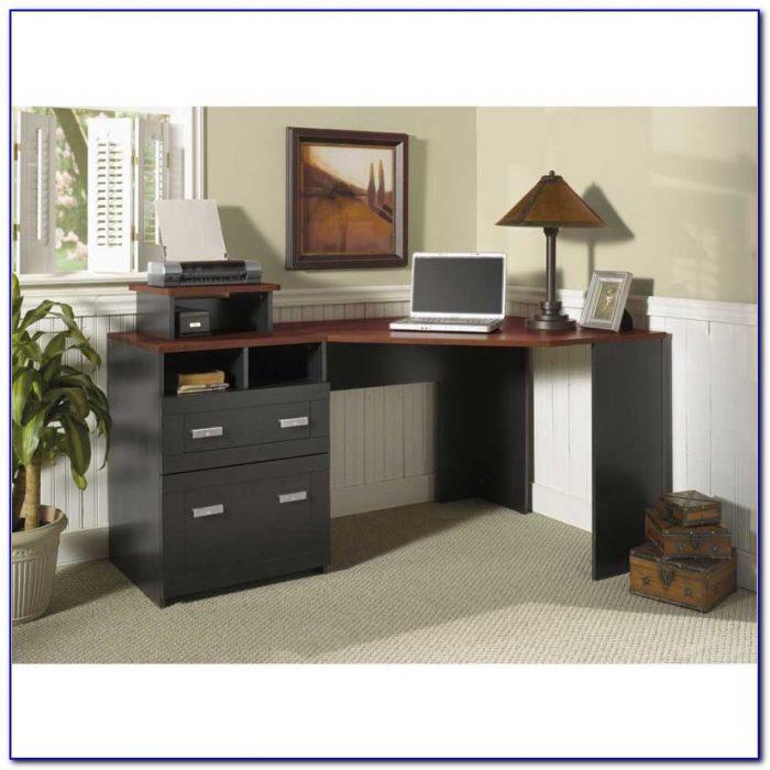 Bush Vantage Corner Desk Black