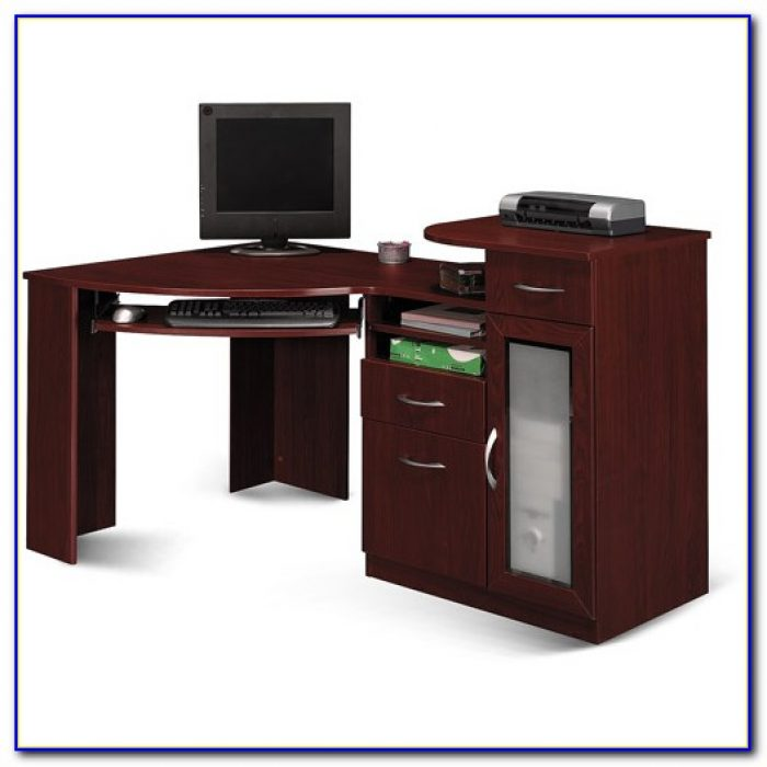 Bush Furniture Vantage Corner Desk Harvest Cherry Desk