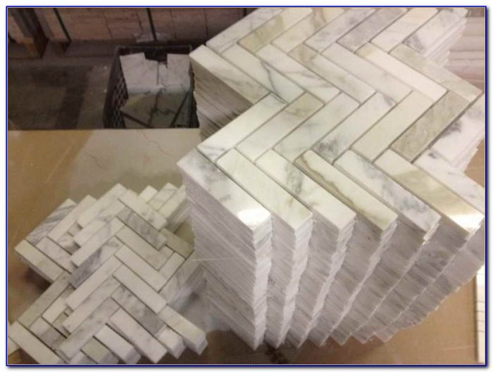 Calcutta Gold Marble Tile Floor