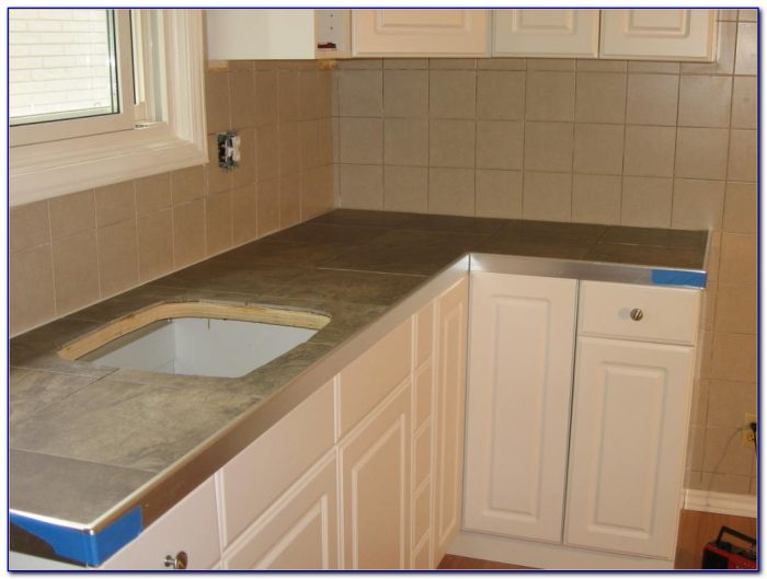Ceramic Tile Kitchen Countertop Over Laminate Tiles