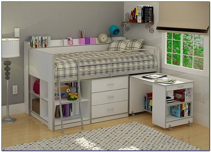 Charleston Storage Loft Bed With Desk Canada
