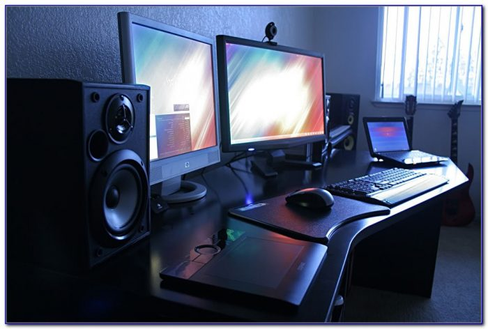 Computer Desk To Hold 2 Monitors