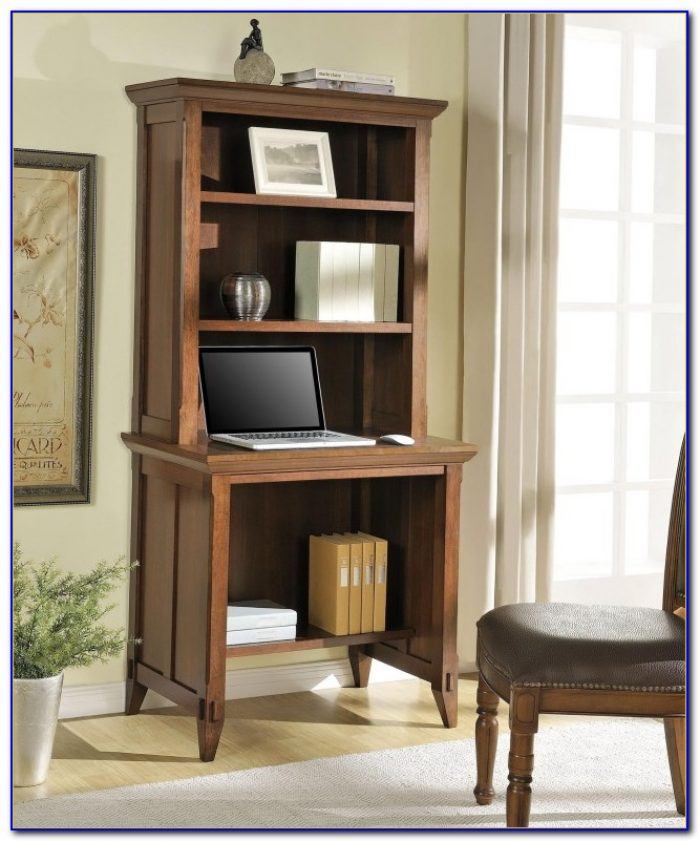 Computer Desk With Shelves Above