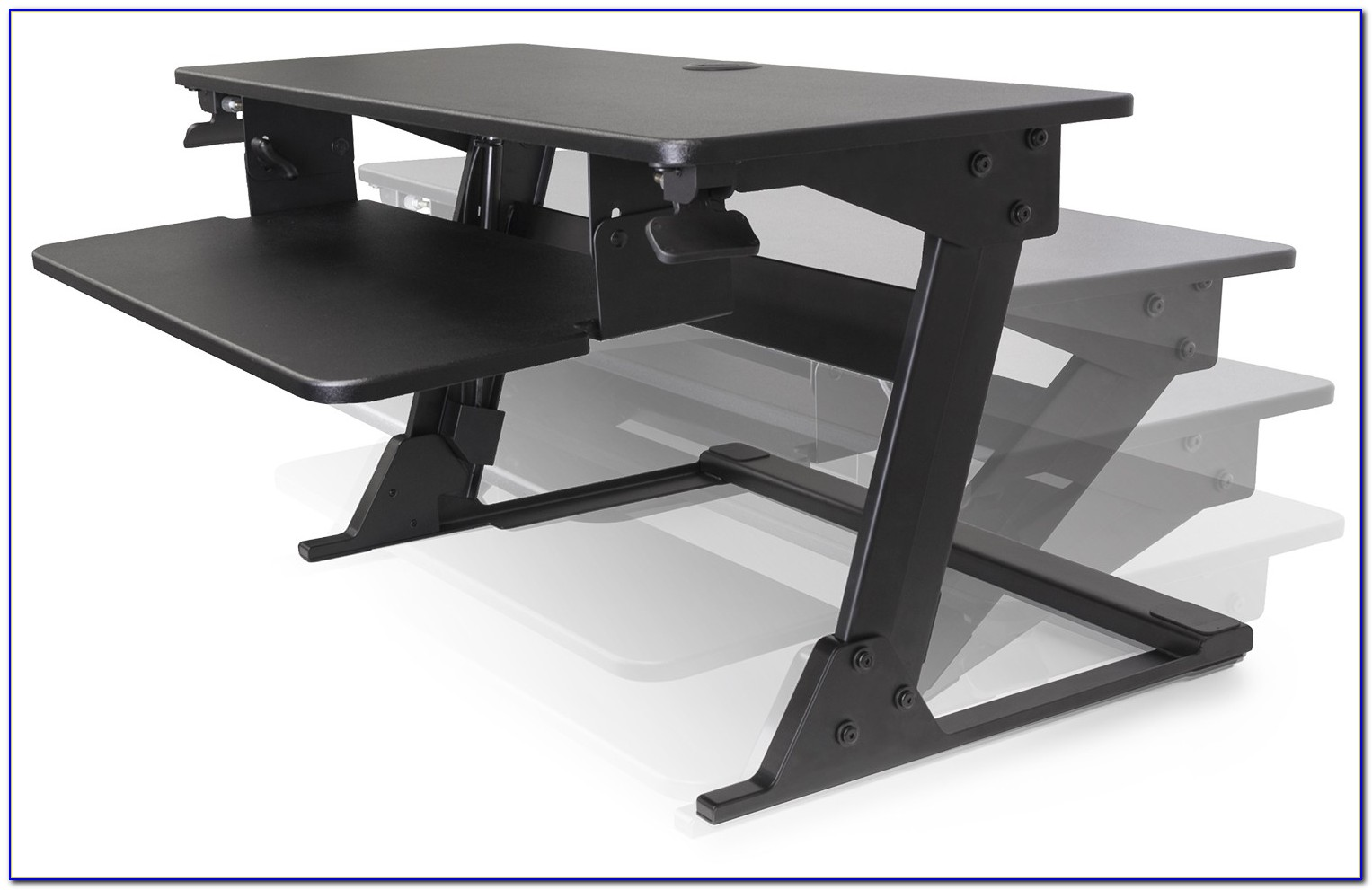 Convert sit down desk to stand up desk nz desk home for Stand up desk conversion ikea