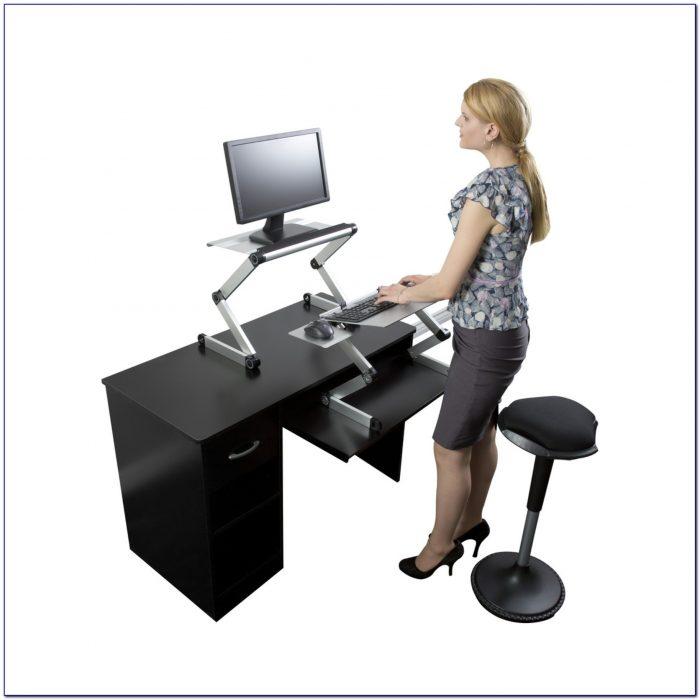 Convert Desk To Standing Workstation Home Design