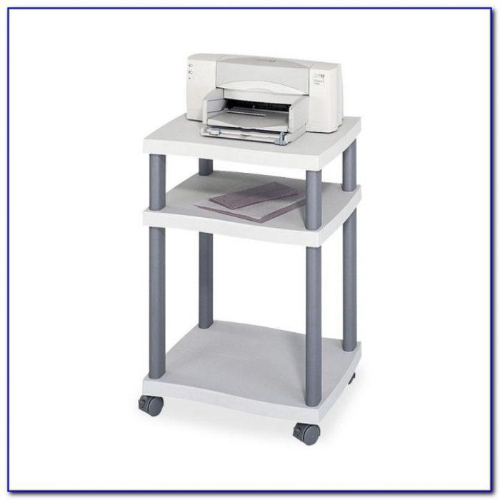 Desk With Printer Shelf