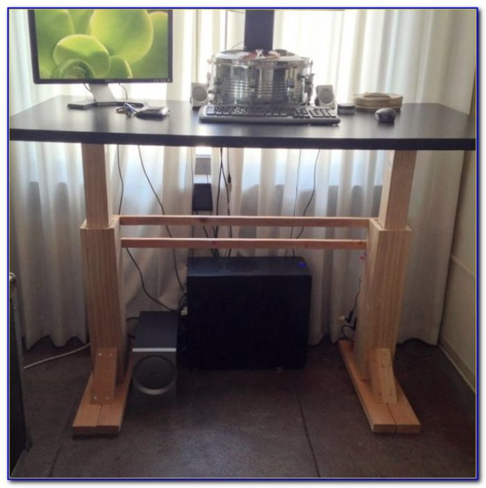 Diy Adjustable Standing Desk Converter