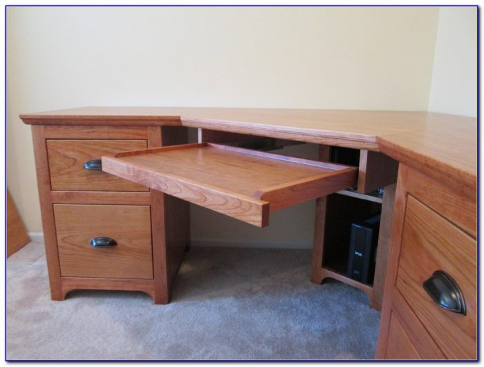Diy Corner Desk With File Cabinets