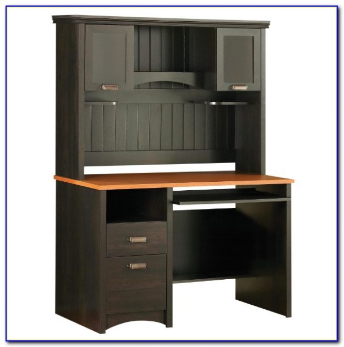 Sauder Edge Water Computer Desk Estate Black Finish