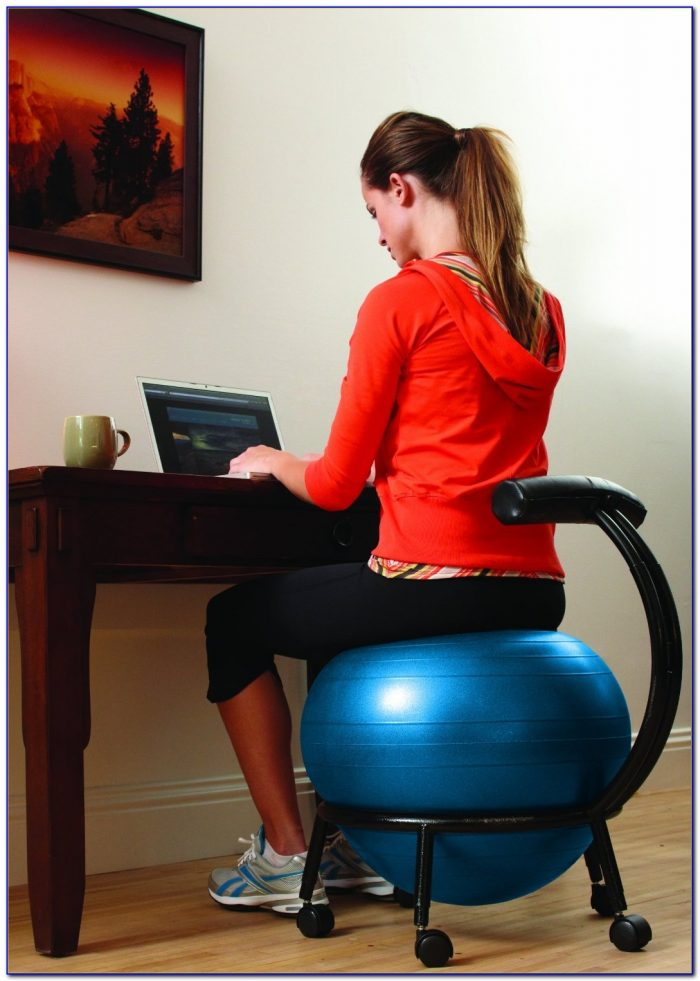 Exercise Ball Desk Chair Size