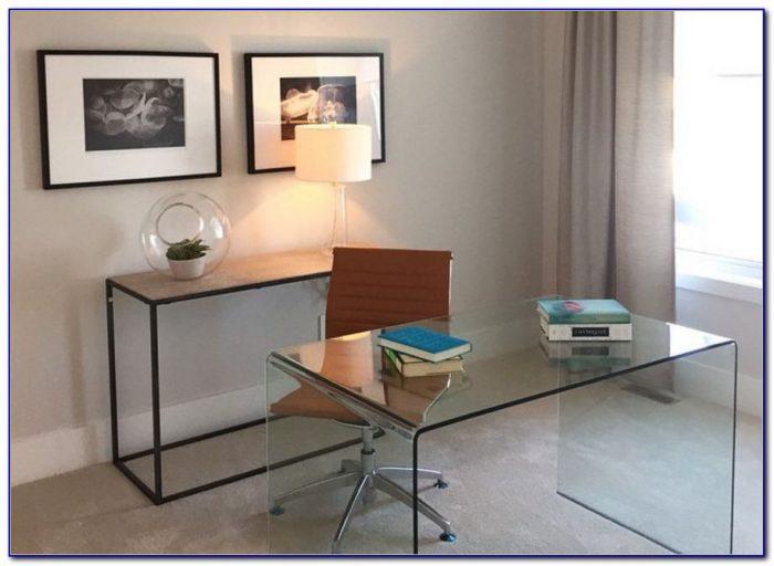 Ikea Clear Glass Computer Desk