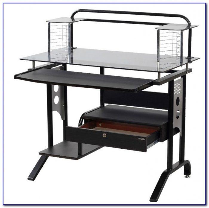 Ikea Glasholm Glass Computer Desk