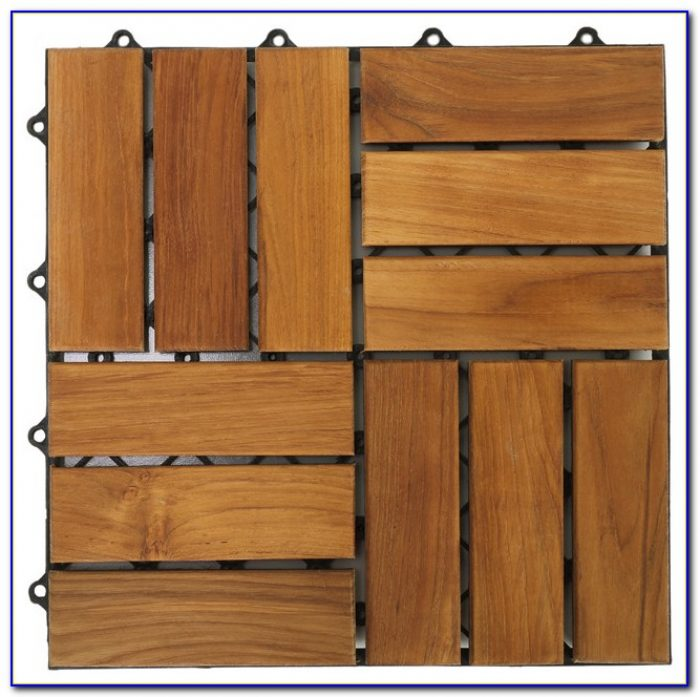 Interlocking Wood Look Floor Tiles
