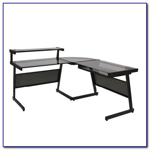 Keyboard Tray For Corner Workstation : l shaped desk with corner keyboard tray desk home design ideas 9wprg6wn1373380 ~ Hamham.info Haus und Dekorationen