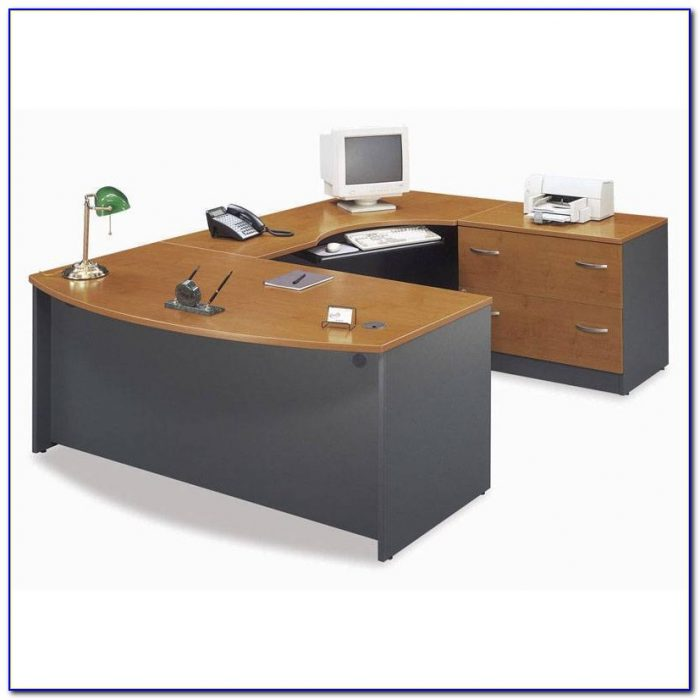 L Shaped Desk With Two Keyboard Trays