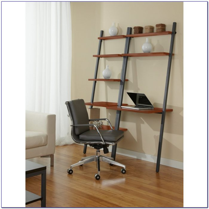 Ladder Style Writing Desk With Shelves