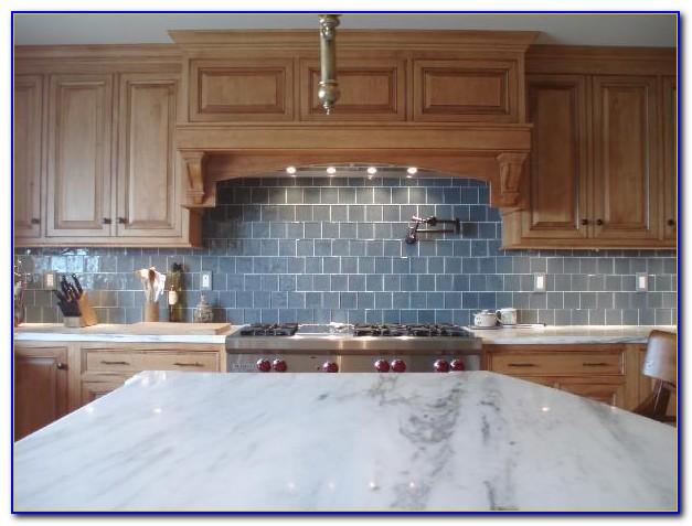 Light Blue Glass Backsplash Tile