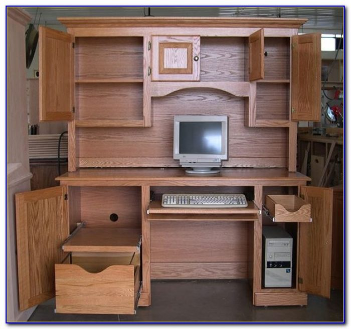 Mission oak computer desk hutch desk home design ideas r6dv4aypmz82342 - Mission style computer desk with hutch ...